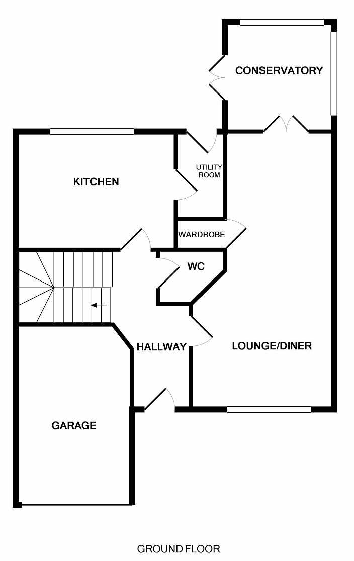Marius Crescent, Motherwell, ML1 3GA Floor Plan 1